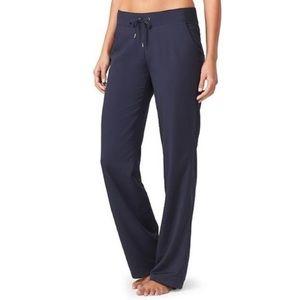 Athleta Midtown Trouser Navy Blue Wide Leg Pant